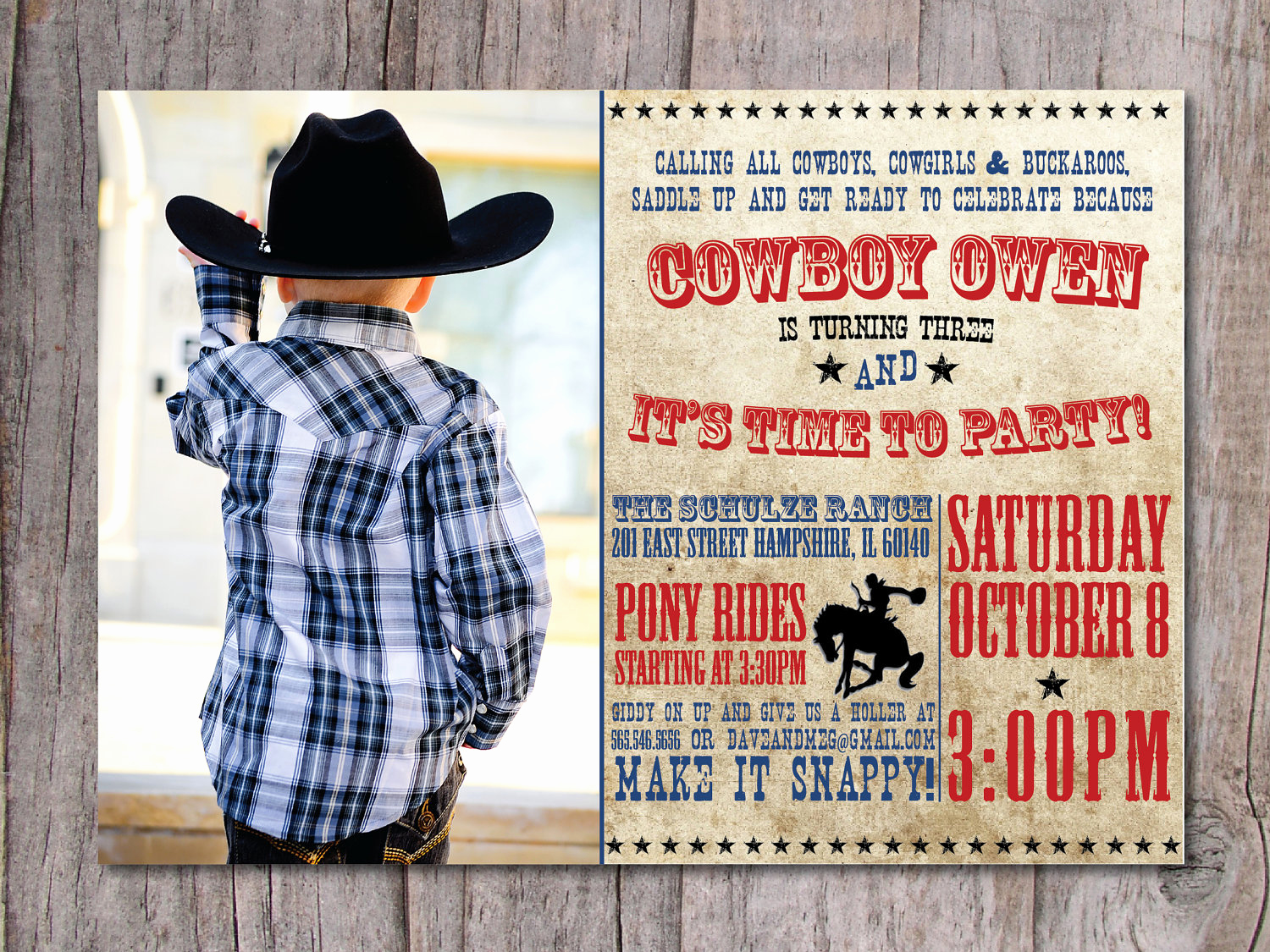 Western themed Invitation Wording Unique Free Printable Cowboy Birthday Invitations