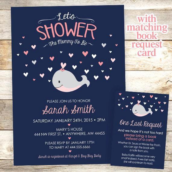 Whale Baby Shower Invitation Elegant Whale Baby Shower Invitation Nautical Baby Shower Invitation