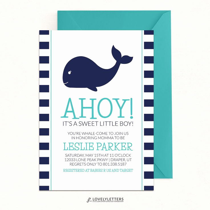 Whale Baby Shower Invitation Fresh Best 25 Whale Baby Showers Ideas On Pinterest