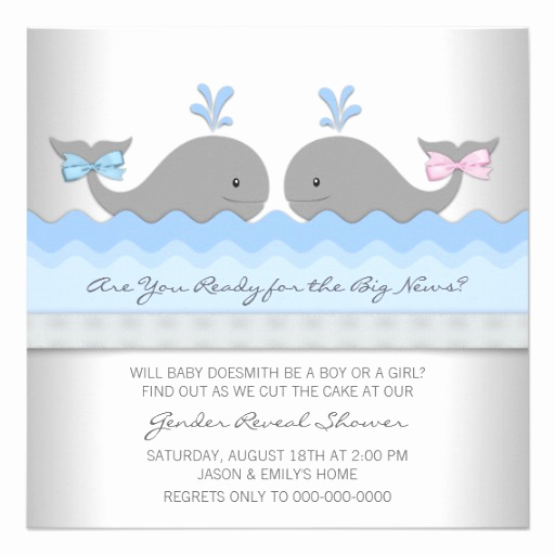 Whale Baby Shower Invitation Lovely Baby Whale Gender Reveal Shower 5 25x5 25 Square Paper