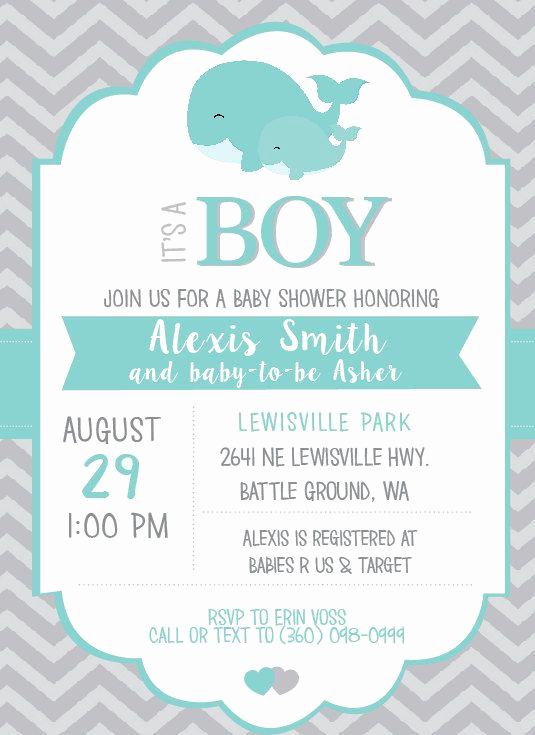 Whale Baby Shower Invitation Luxury Best 25 Whale Baby Showers Ideas On Pinterest