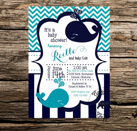 Whale Baby Shower Invitation Luxury Blue Whale Baby Shower Invitation