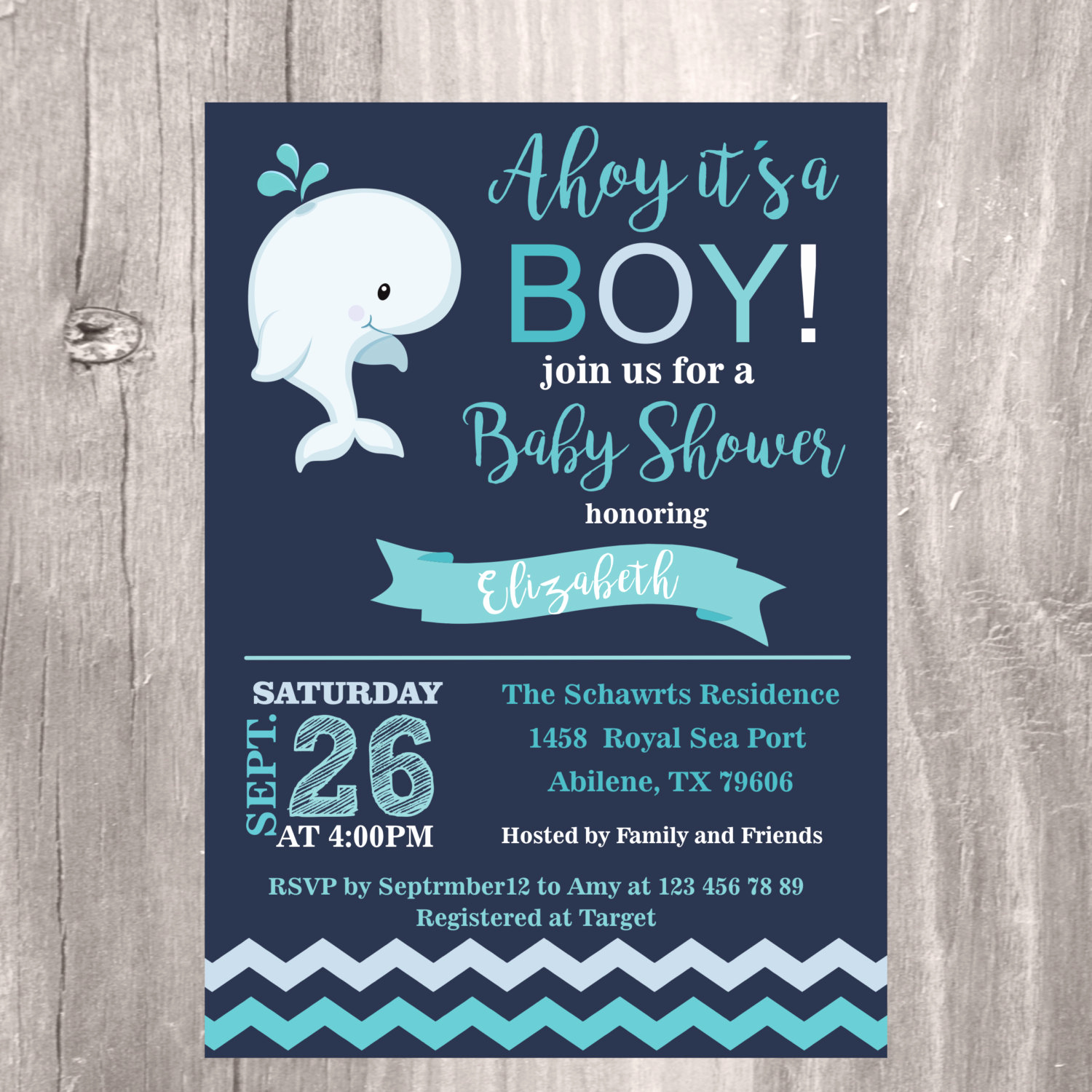Whale Baby Shower Invitation New Whale Baby Shower Invitation Nautical Baby Shower Invite