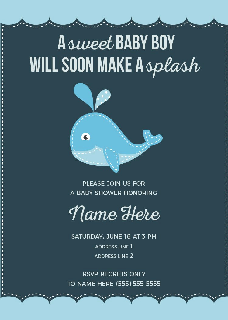 Whale Baby Shower Invitation Template Elegant Whale Baby Shower Invitation Invitation Templates
