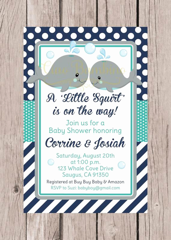 Whale Baby Shower Invitation Template Fresh Printable Whale Baby Shower Invitation Navy Blue Gray and