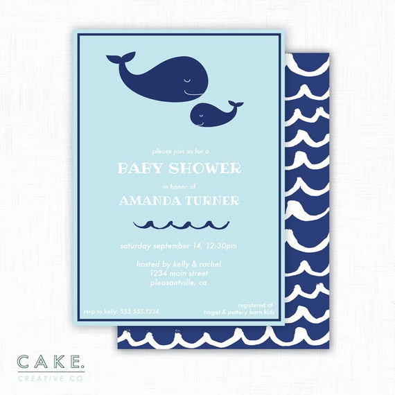 Whale Baby Shower Invitation Template Fresh Whale Baby Shower Invitation Printable