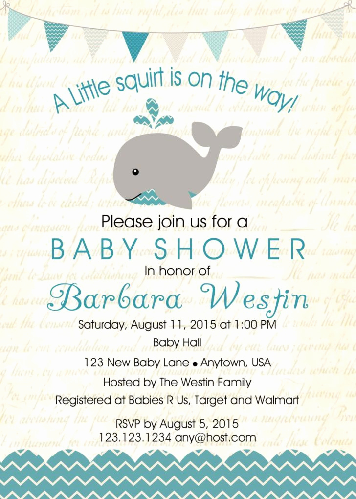 Whale Baby Shower Invitation Template Inspirational 25 Best Ideas About Baby Shower Templates On Pinterest