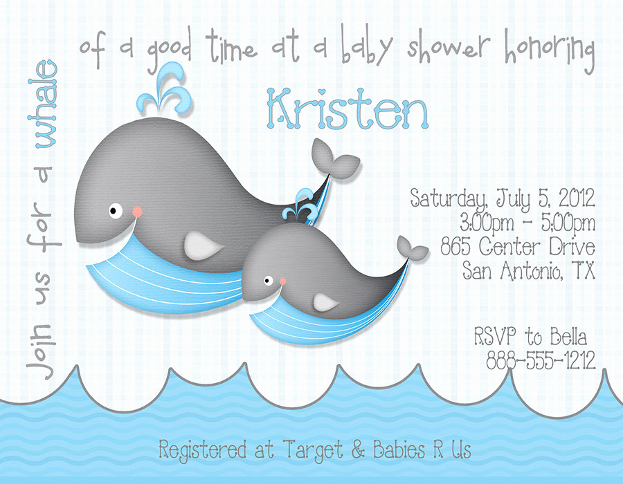 Whale Baby Shower Invitation Template Inspirational Items Similar to Whale Baby Shower Invitations Qty 10 On Etsy