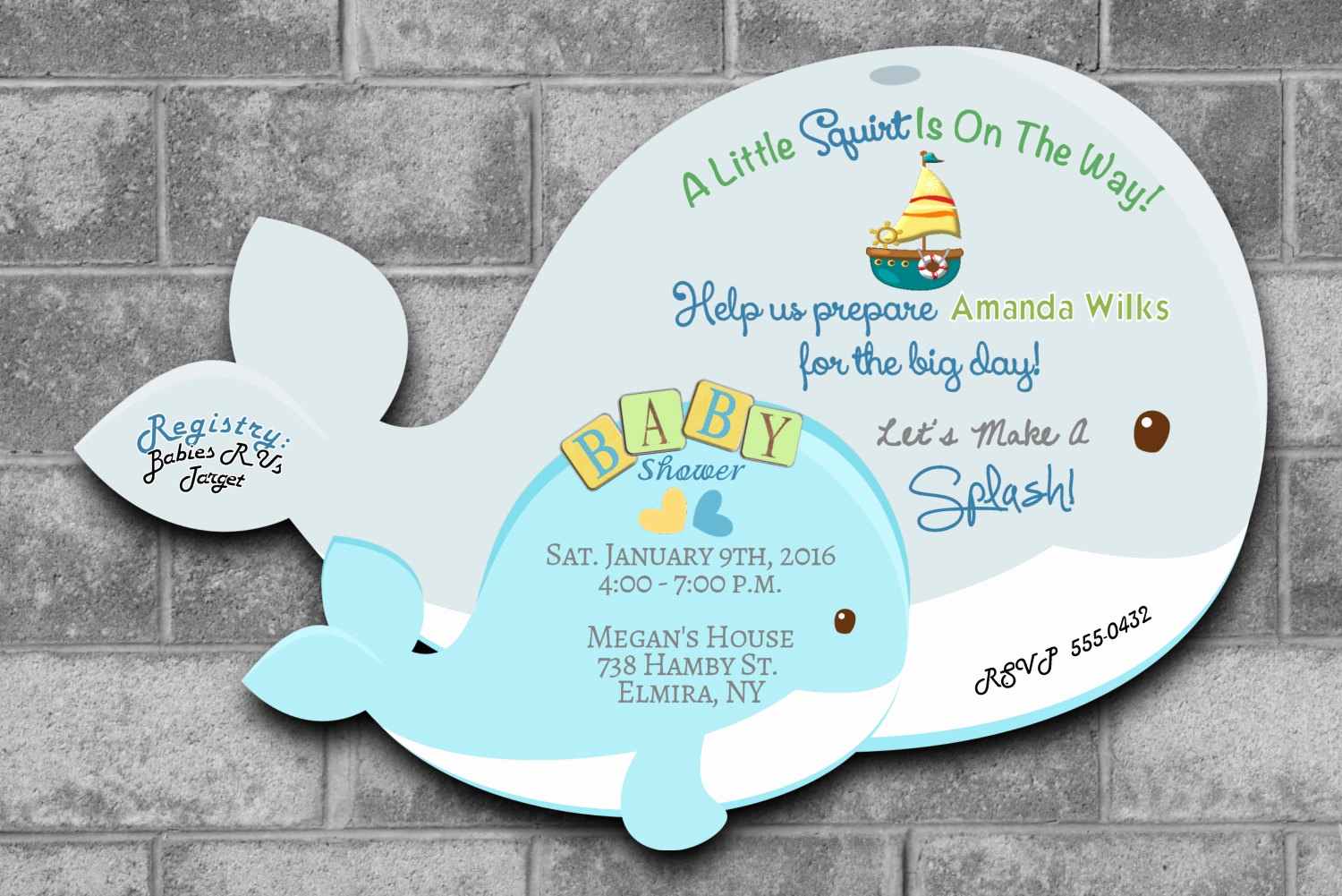 Whale Baby Shower Invitation Template Lovely Whale Baby Shower Invitations Nautical Baby Shower Invitations
