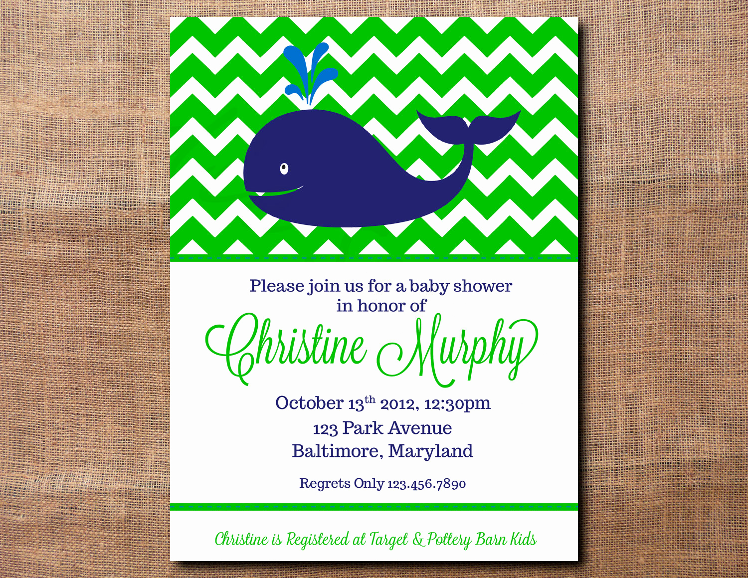 Whale Baby Shower Invitation Template New Printable Whale Baby Shower Invitations Chevron Design