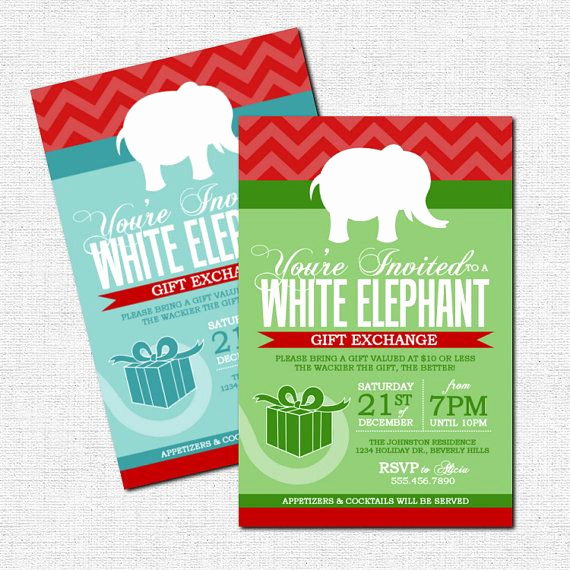 White Elephant Gift Exchange Invitation Elegant 1000 Images About Christmas Invitation Ideas On Pinterest