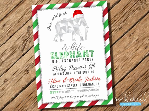 White Elephant Gift Exchange Invitation Fresh Items Similar to White Elephant Gift Exchange Invitation