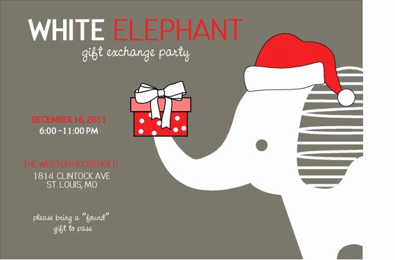 White Elephant Gift Exchange Invitation Inspirational White Elephant Parties are A Fun Way to Residents