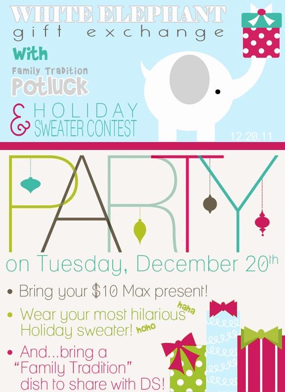 White Elephant Gift Exchange Invitation Lovely White Elephant Cute Invitation