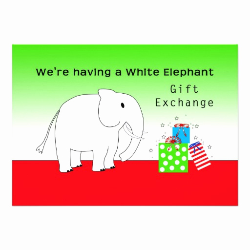 White Elephant Gift Exchange Invitation Lovely White Elephant Exchange Invites 68 White Elephant