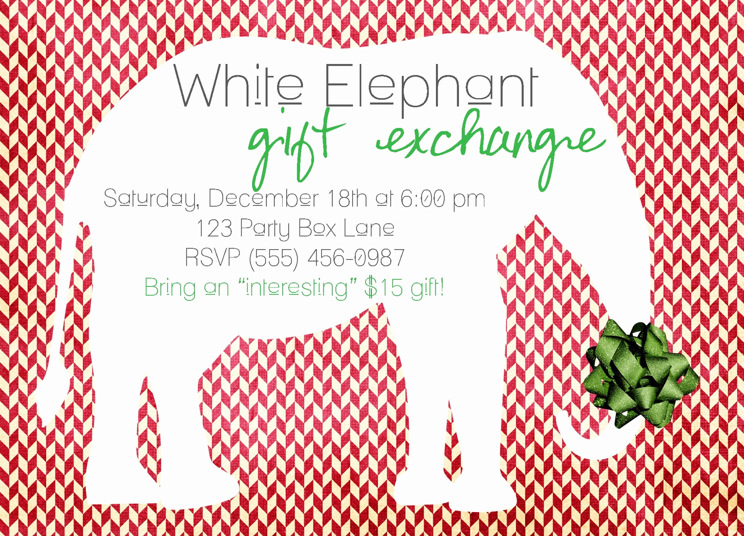 White Elephant Gift Exchange Invitation New Featuring You My Blog