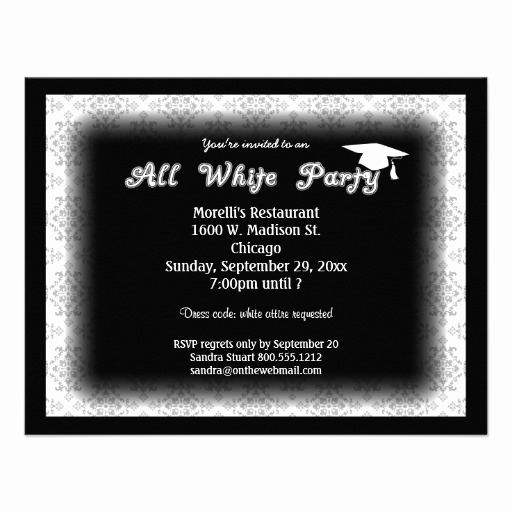 White Party Invitation Ideas Awesome All White attire theme Party Invitation From Zazzle