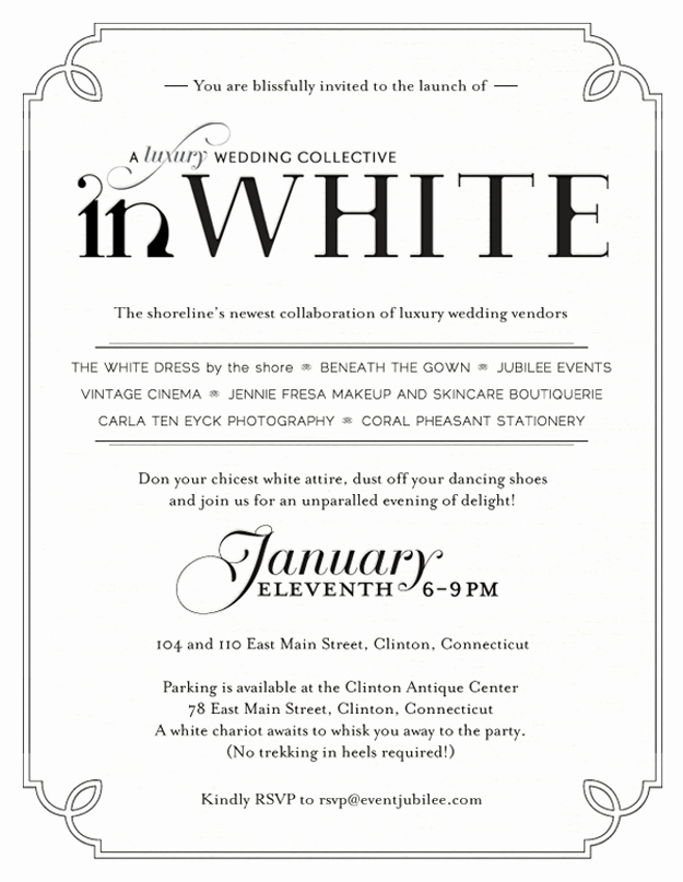 White Party Invitation Ideas Awesome White Party Invitations