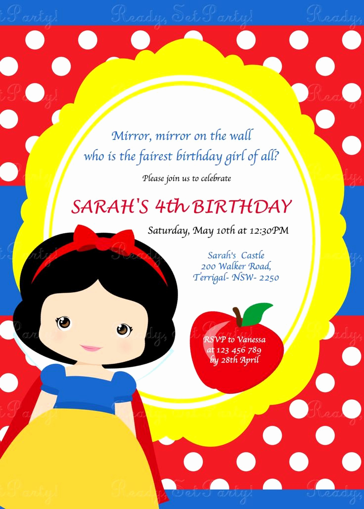 White Party Invitation Ideas Beautiful 25 Best Ideas About Snow White Invitations On Pinterest