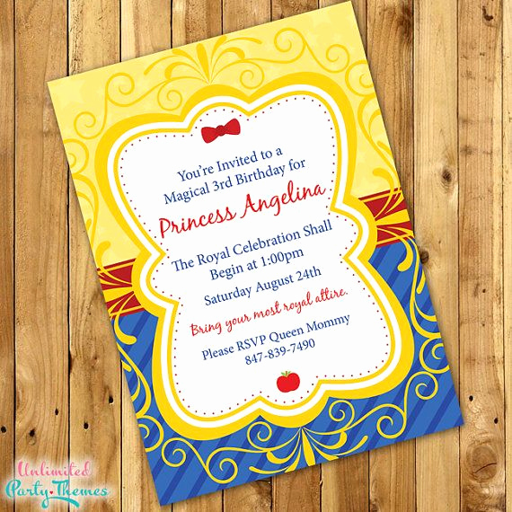 White Party Invitation Ideas Fresh Best 25 Snow White Invitations Ideas On Pinterest