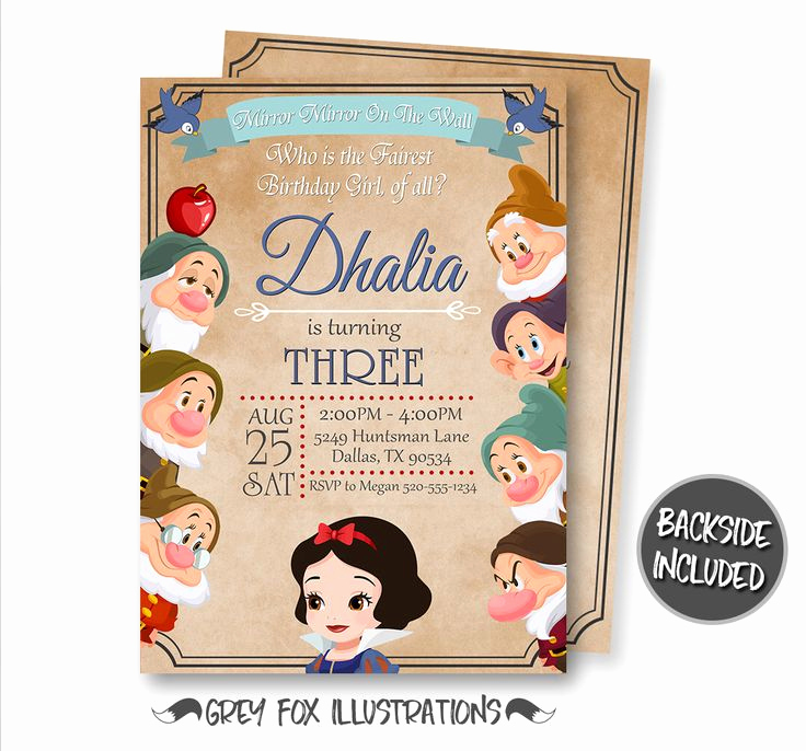 White Party Invitation Ideas Fresh the 25 Best Snow White Invitations Ideas On Pinterest