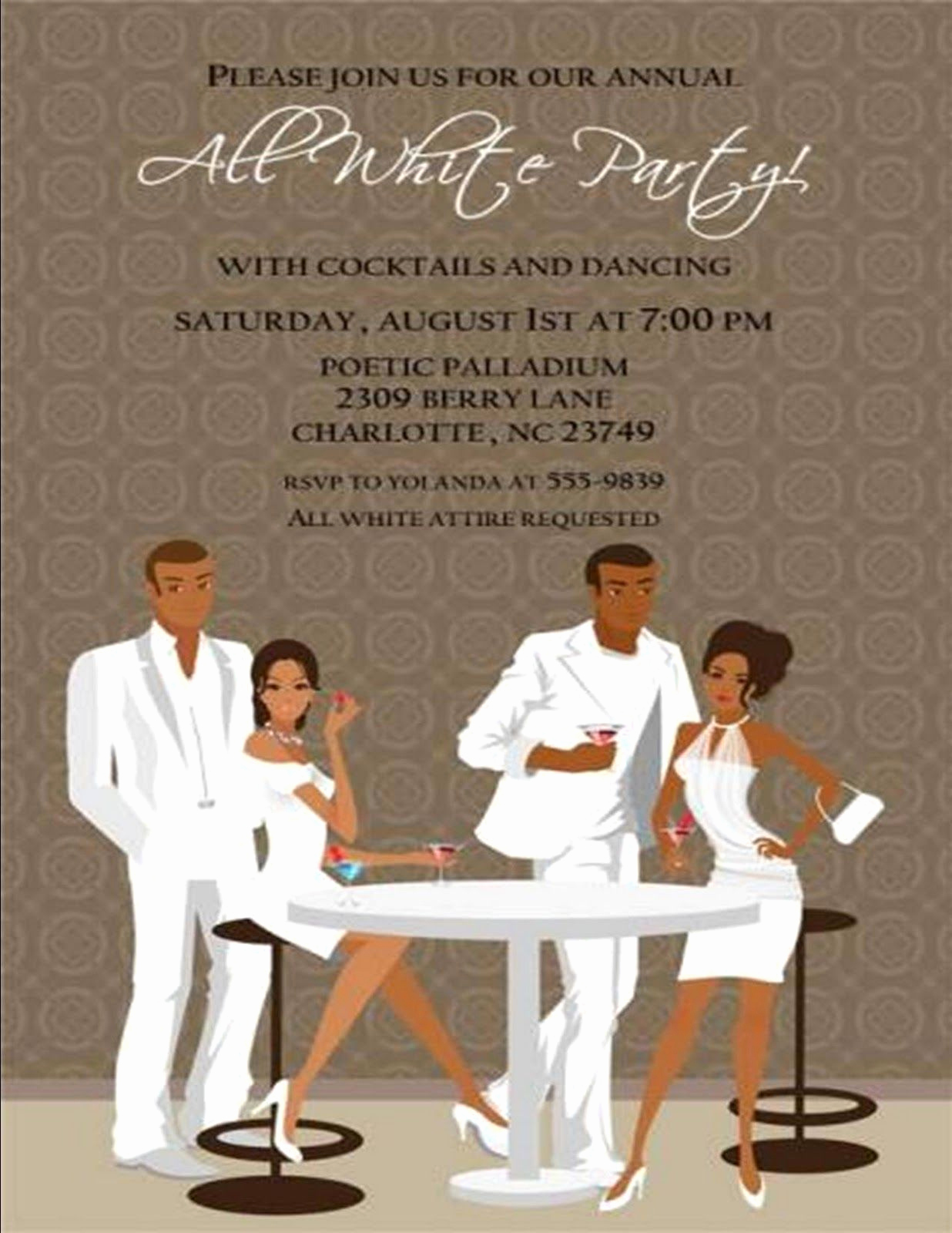 White Party Invitation Ideas Lovely All White Party On Pinterest
