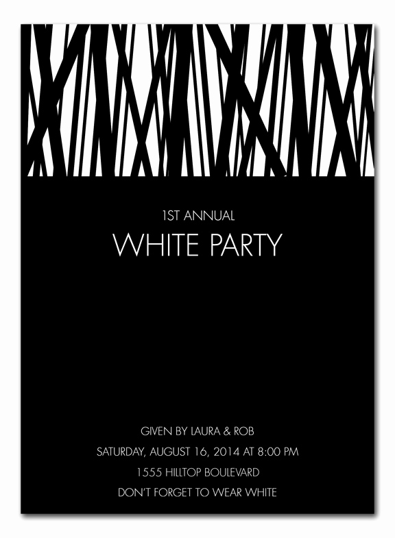White Party Invitation Ideas Lovely White Party Corporate Invitations by Invitation