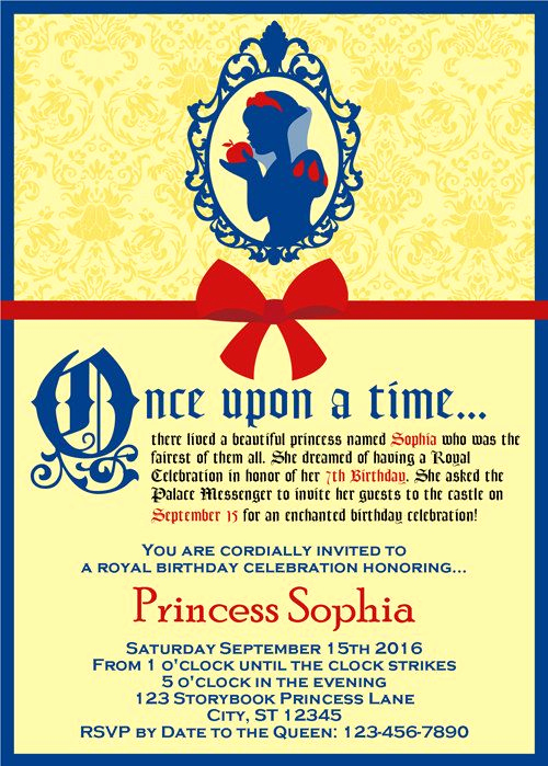 White Party Invitation Ideas New 25 Best Ideas About Snow White Invitations On Pinterest
