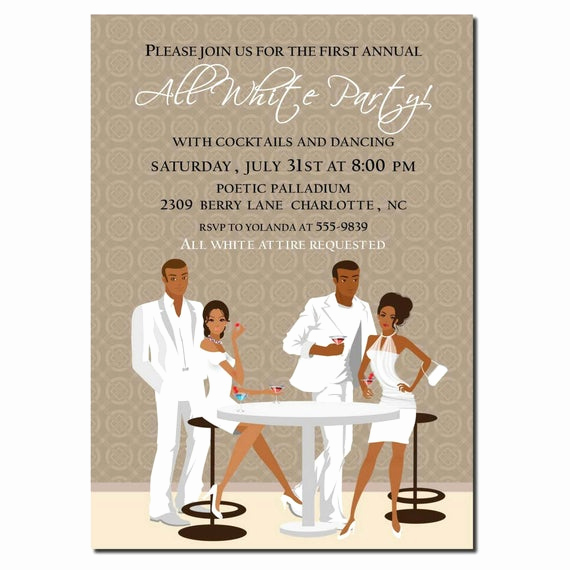 White Party Invitation Ideas Unique African American All White Party Invitation African American