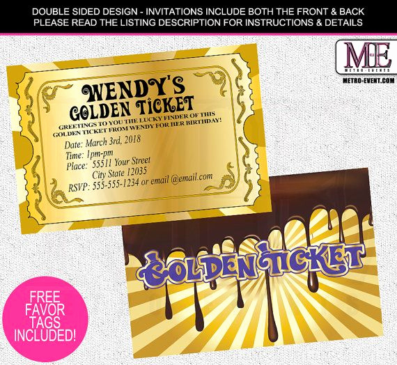 Willy Wonka Golden Ticket Invitation Awesome 1000 Ideas About Golden Ticket On Pinterest