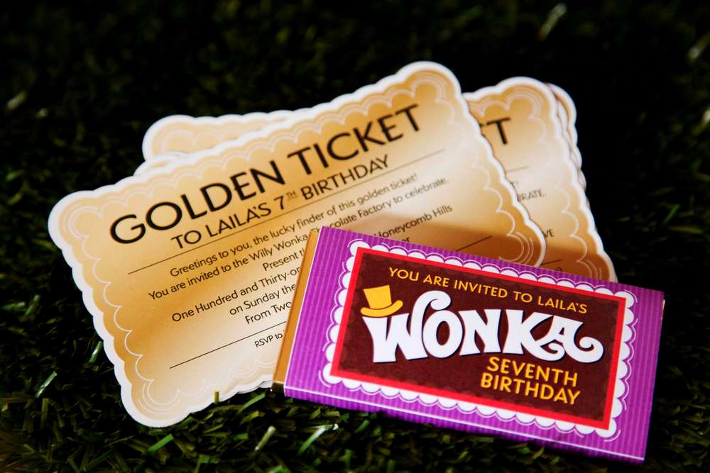Willy Wonka Golden Ticket Invitation Beautiful Willy Wonka and the Chocolate Factory Birthday Party Ideas