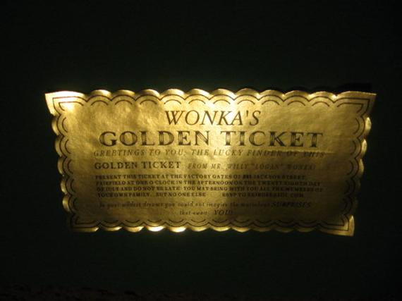 12 custom willy wonka golden tickets as
