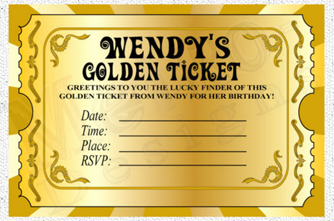 Willy Wonka Golden Ticket Invitation Best Of Willy Wonka Golden Ticket Party Invitations – Home Party