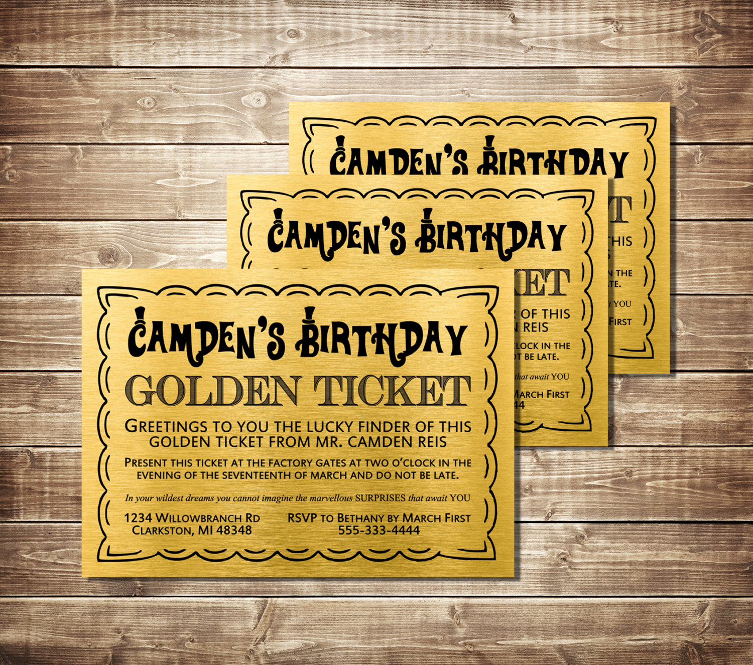 Willy Wonka Golden Ticket Invitation Fresh Golden Ticket Birthday Invitation Golden Ticket Invite Willy