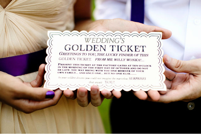 Willy Wonka Golden Ticket Invitation Lovely A Willy Wonka Inspired Wedding Shoot