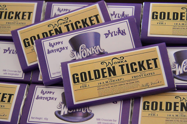 Willy Wonka Golden Ticket Invitation Unique Leonie S Cakes and Parties Wonka Golden Ticket