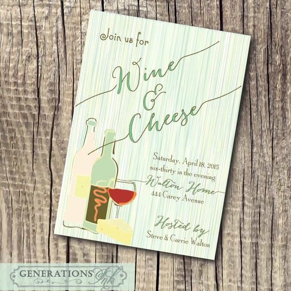 Wine and Cheese Invitation Awesome Fabulous Wine and Cheese Invitation Printable by
