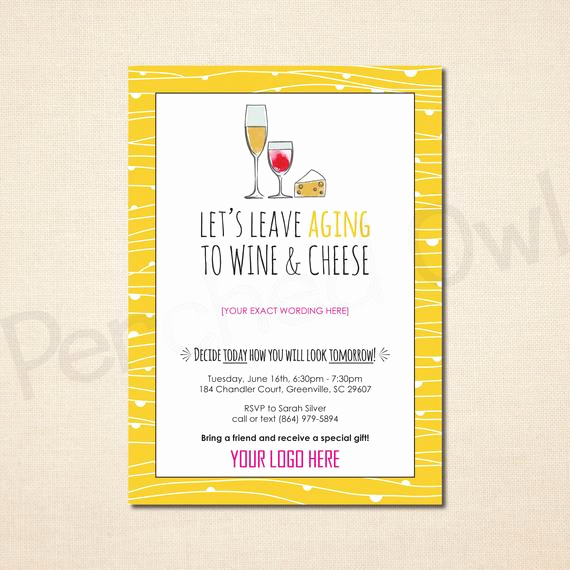 Wine and Cheese Invitation Awesome Leave Aging to Wine and Cheese Invitation Direct by Perchedowl