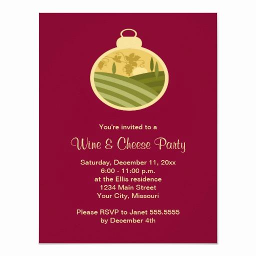 "Wine and Cheese Invitation Beautiful Holiday Wine and Cheese Party Invitations 4 25"" X 5 5"