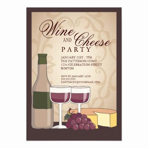 Wine and Cheese Invitation Beautiful Tuscan Wine & Cheese Tasting Party Invitation