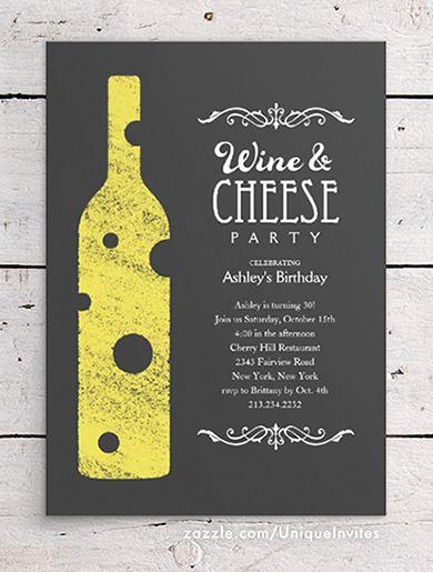 Wine and Cheese Invitation Beautiful Wine and Cheese Party Invitations Zazzle