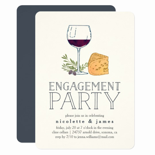 Wine and Cheese Invitation Best Of Wine and Cheese Engagement Party Invitation