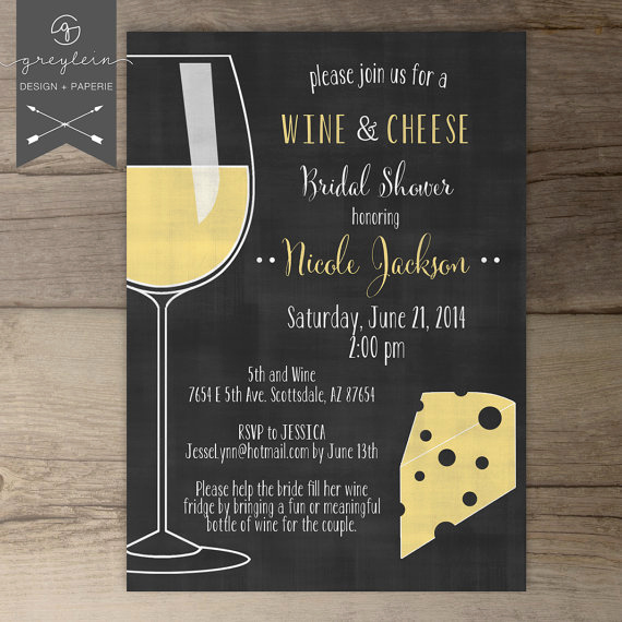 Wine and Cheese Invitation Elegant Wine and Cheese Invitations Chalkboard Dinner Party