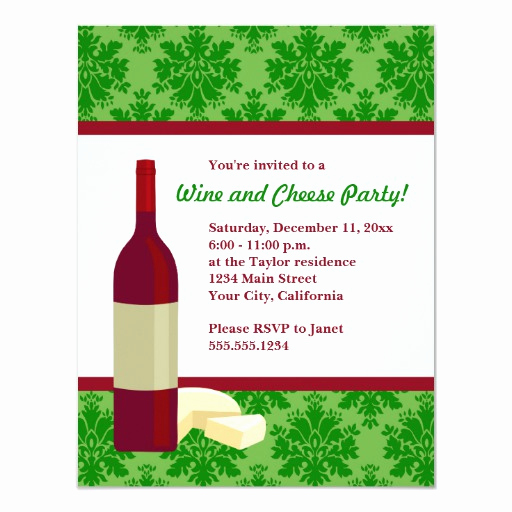 Wine and Cheese Invitation Fresh Damask Holiday Wine and Cheese Party Invitations