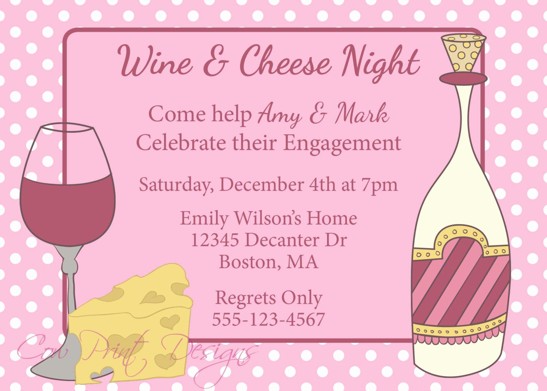 Wine and Cheese Invitation Fresh Wine and Cheese Party Invitation Engagement Party Invite Wine