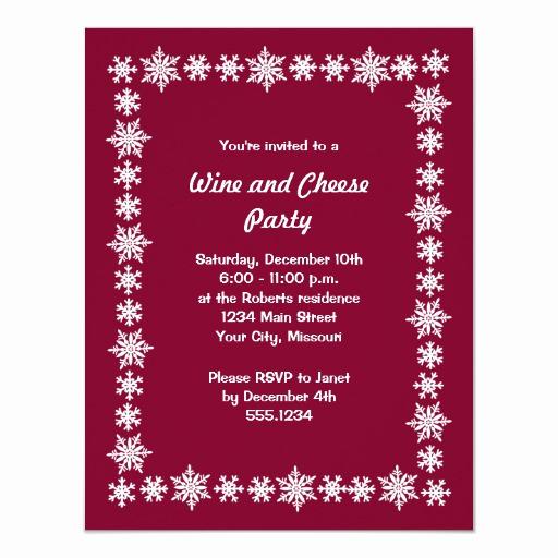 Wine and Cheese Invitation Luxury Holiday Wine and Cheese Party Invitations