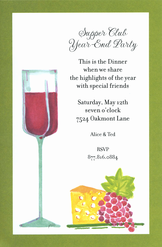 Wine and Cheese Invitation Luxury Wine and Cheese Party Invitations