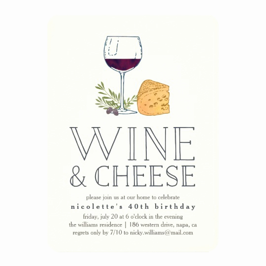Wine and Cheese Invitation New Any Occasion Wine and Cheese Party Invitation