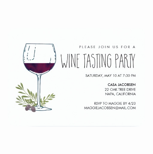 Wine Tasting Invitation Wording Best Of Watercolor Vino