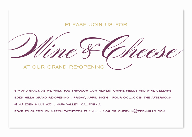 Wine Tasting Invitation Wording Unique Wine and Cheese Corporate Invitations by Invitation